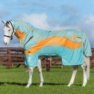 Horseware® Amigo® 3-in-1 Evolution Fly Rug Aqua/Orange/Aqua