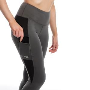 Horseware® Ladies Silicone Grip Riding Tights Charcoal