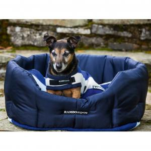 Horseware® Rambo® Deluxe Dog Rug Whitney Stripe Navy