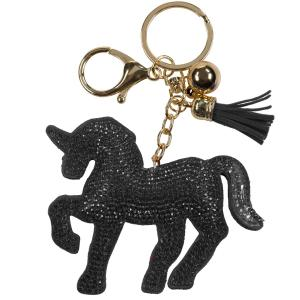Horze Key Chain Black/Gold
