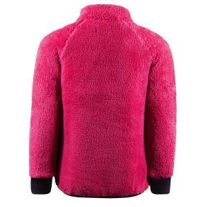 Horze Kids Landry Fleece Jacket Fuschia Rose/Plum Perfect