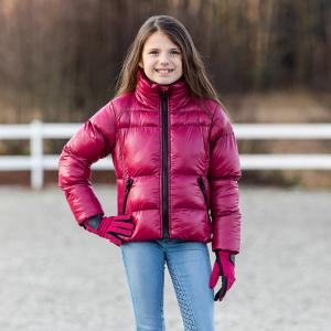 Horze Kids Rianna Puffy Winter Jacket Pink