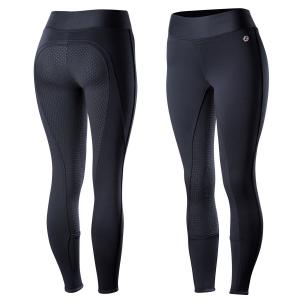Horze Ladies Active Winter Silicone Full Seat Tights Dark Navy