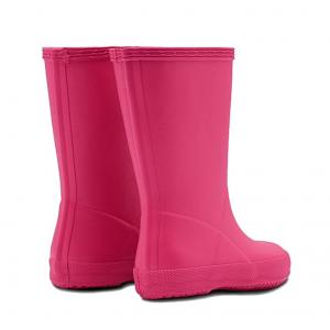 Hunter Kids First Classic Wellington Boots Bright Pink