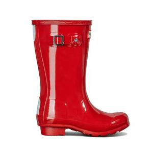 Hunter Kids Original Gloss Wellington Boots Military Red