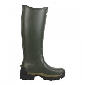 Hunter Ladies Balmoral II Side Adjustable Neoprene Wellington Boots Dark Olive