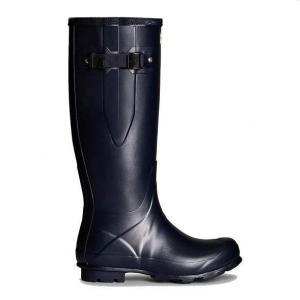 Hunter Ladies Norris Field Side Adjustable Wellington Boots Navy