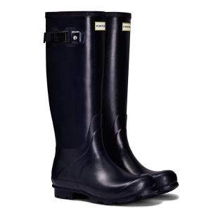 Hunter Ladies Norris Field Wellington Boots Navy
