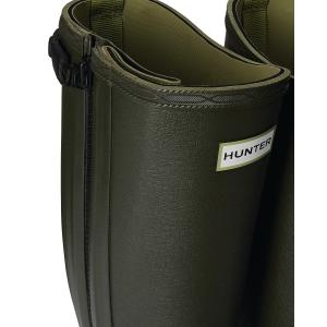 Hunter Mens Balmoral Field Full Rubber Zip Wellington Boots Dark Olive