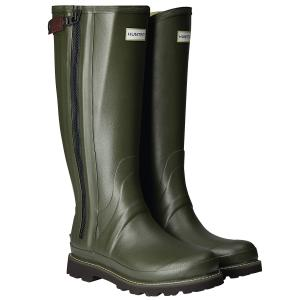Hunter Mens Commando Full Zip Wellington Boots Dark Olive