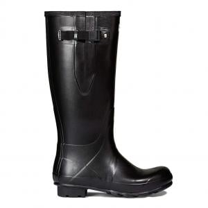 Hunter Mens Norris Field Side Adjustable Neoprene Lined Wellington Boots Black