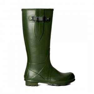 Hunter Mens Norris Field Side Adjustable Neoprene Lined Wellington Boots Vintage Green