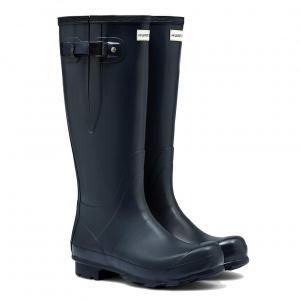 Hunter Mens Norris Field Side Adjustable Wellington Boots Navy