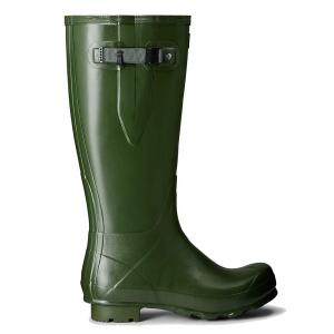 Hunter Mens Norris Field Side Adjustable Wellington Boots Vintage Green