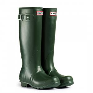 Hunter Mens Original Tall Wellington Boots Dark Olive