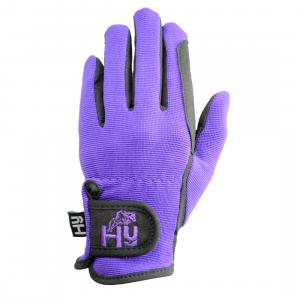 HY5 Childs Everyday Two Tone Riding Gloves Black/Purple