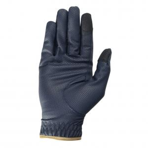 Hy5 Cottenham Adults Elite Riding Glove Navy/Gold