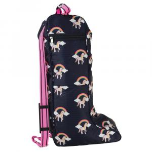 Hy Unicorn Boot Bag Navy/Pink
