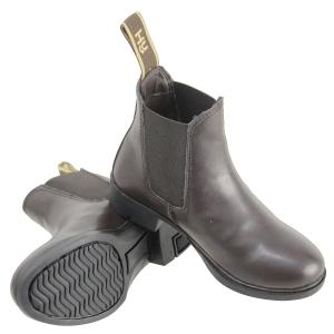 Hy HyLAND Adults Beverly Synthetic Leather Jodhpur Boots Brown