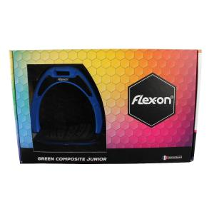 Flex-On Junior Composite Inclined Grip Stirrups Blue/Black