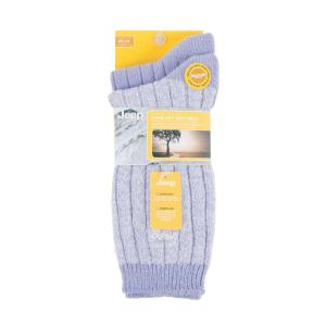 Jeep Ladies Supersoft Boot Socks 2 Pack Lilac