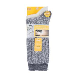 Jeep Ladies Supersoft Boot Socks 2 Pack Slate