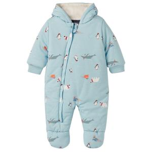 Joules Baby Snug Pramsuit Light Blue Polar Animals