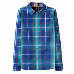 Joules Boys Lachlan Checked Shirt Blue Multi Check
