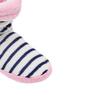 Joules Padabout Supersoft Fluffy Slipper Socks French Navy Stripe