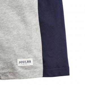 Joules Boys Reeve Glow In The Dark Top Grey Marl Dino