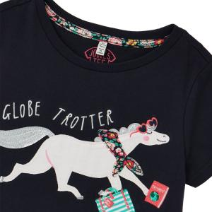 Joules Childs Astra Top Navy Horse
