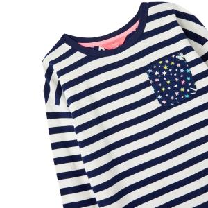 Joules Childs Bliss Long Sleeve Top Navy Stripe