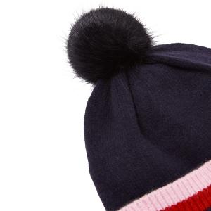 Joules Childs Bobble Hat French Navy