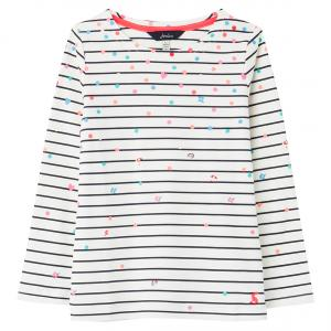 Joules Childs Harbour Print Top White Confetti