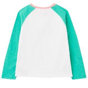Joules Childs Lorna Top Green Rainbow