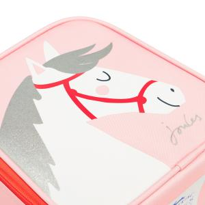 Joules Childs Munch Lunch Bag Pink Horse