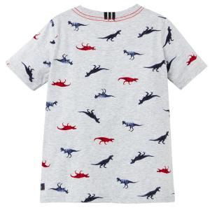 Joules Childs Olly T-Shirt Grey Dinos
