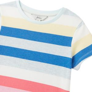 Joules Childs Pascal Short Sleeved Top Multi Stripe