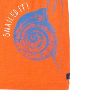 Joules Childs Ray Glow in the Dark Tee Orange Snail