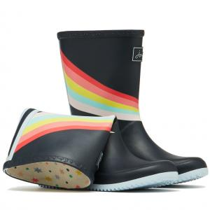 Joules Childs Roll-Up Wellies Navy Shooting Star