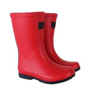 Joules Childs Roll Up Wellies Red