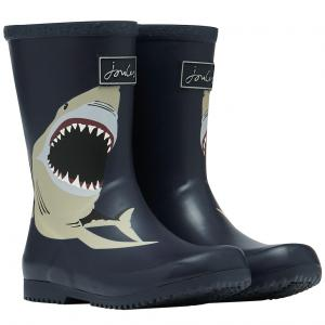 Joules Childs Roll Up Welly Navy Shark