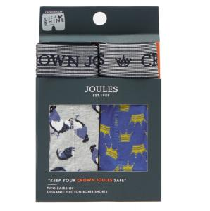 Joules Mens Crown Joules Boxers 2 Pack Rise and Shine