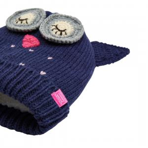 Joules Girls Chummy Glittens Character Hat Owls