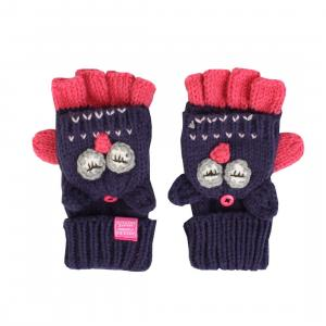 Joules Girls Chummy Glittens Character Mittens Owls