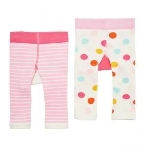 Joules Girls Lively Leggings 2 Pack Pink Frog Fairy