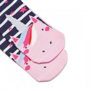 Joules Girls Neat Feet Junior Socks Unicorn