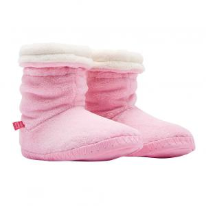 Joules Girls Padabout Supersoft Fluffy Slipper Socks Rose Pink