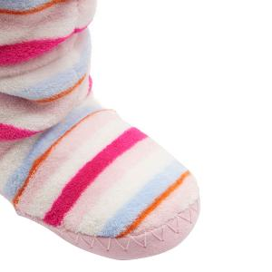Joules Girls Padabout Slipper Pink Multi Stripe