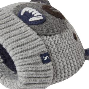 Joules Junior Chummy Hat Grey Bear